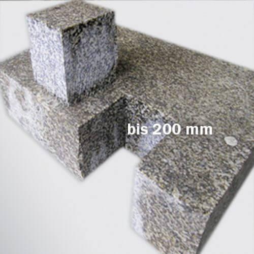 Granit nach dem Wasserstrahlschneiden